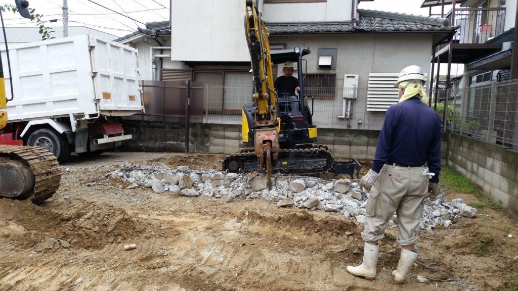 岡山で基礎の解体