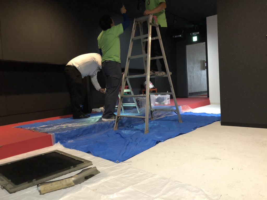 岡山市にてエアコンの清掃