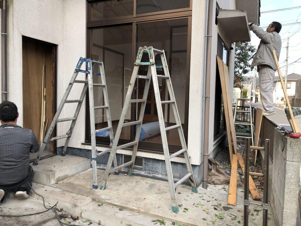 岡山市 増築に伴う解体工事