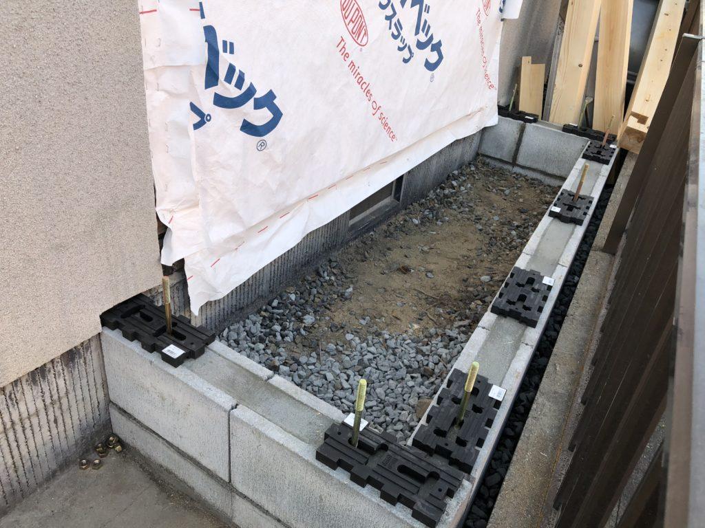 岡山市で住宅の基礎工事