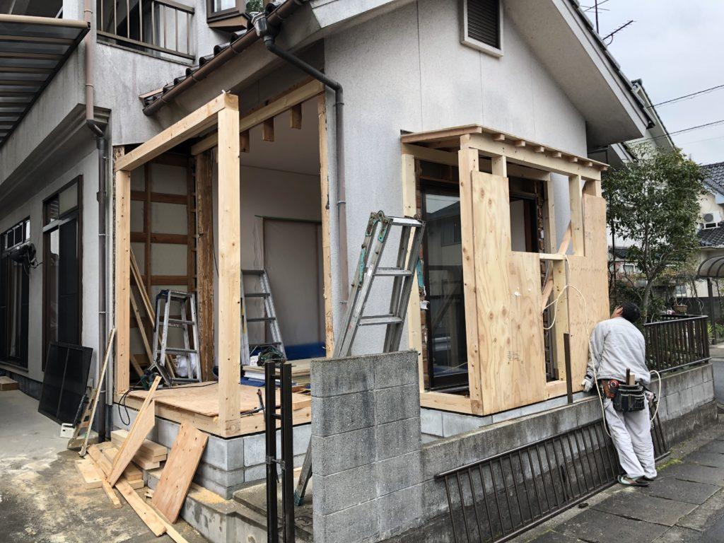 岡山市にて造作工事
