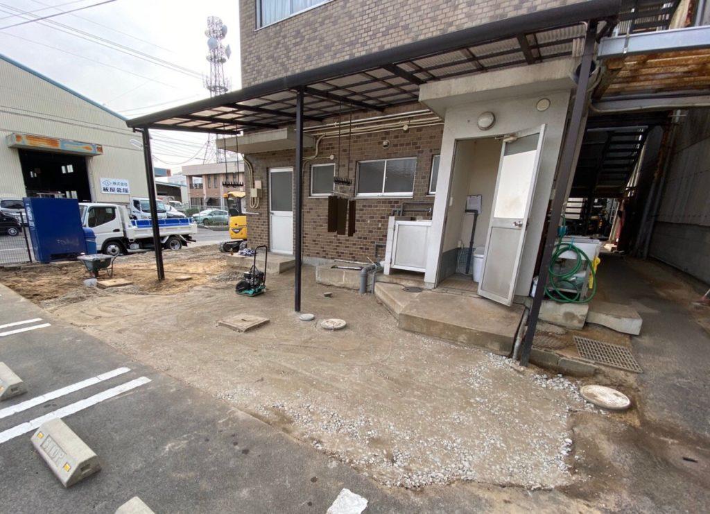 岡山市南区で外構工事の施工写真