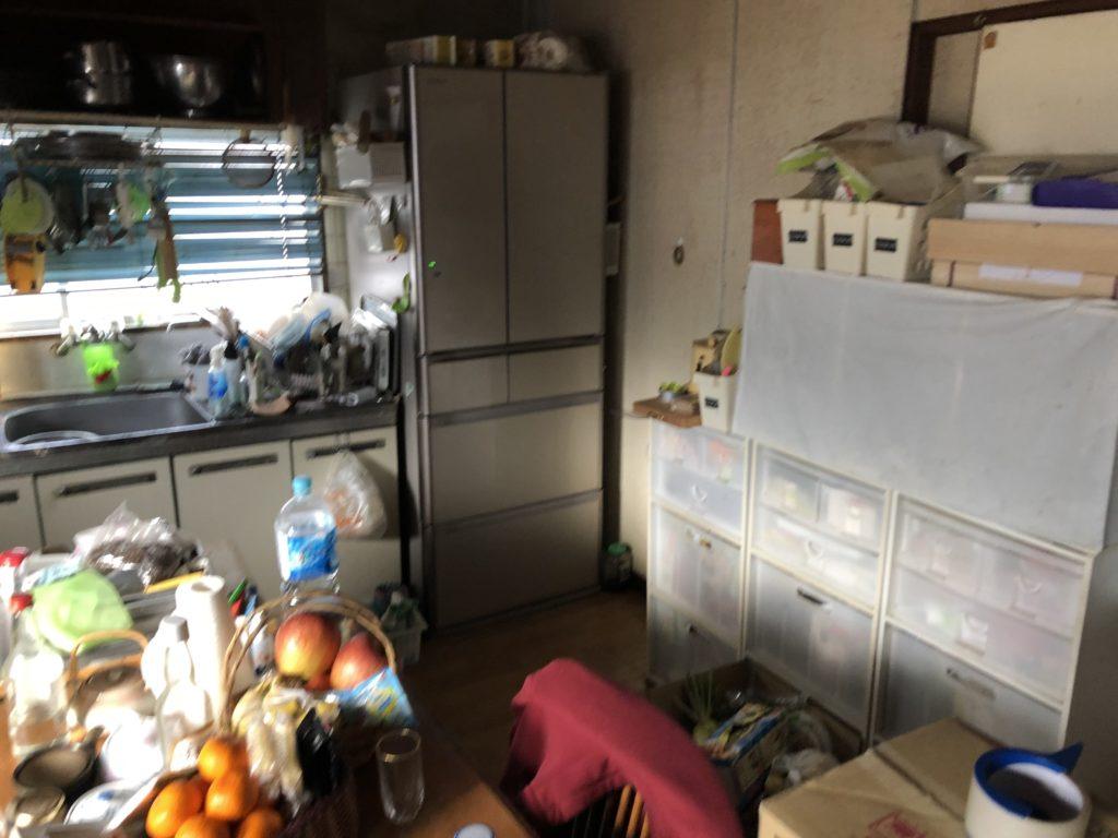 岡山のキッチンリフォーム施工前