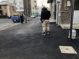 岡山市南区で解体とアスファルト舗装