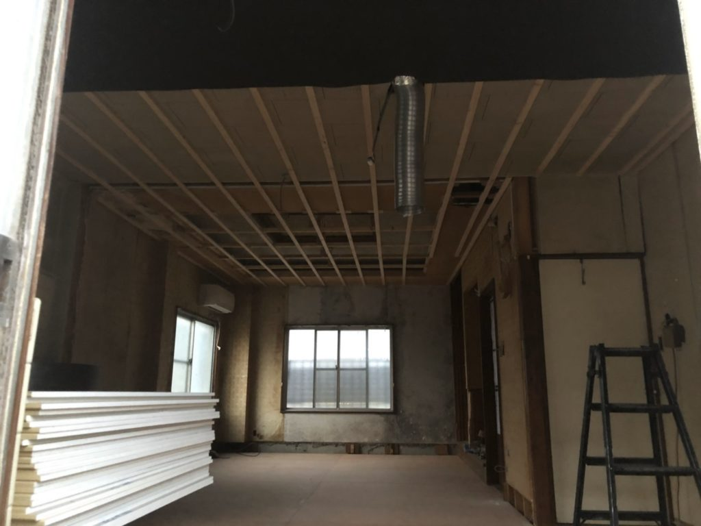 天井の造作工事 岡山