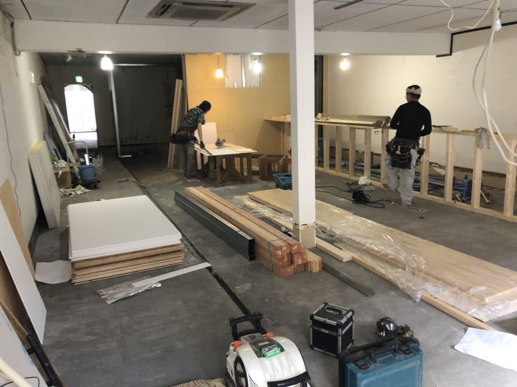 岡山市北区で造作工事
